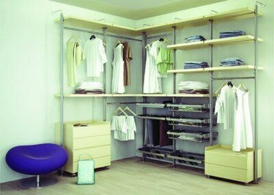modern closet shelving system