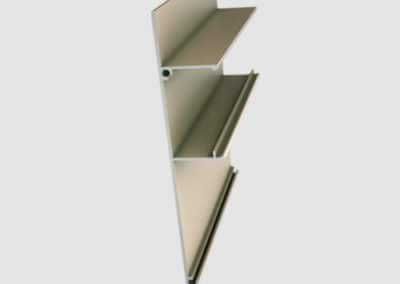 Aluminum false panel for suspended system