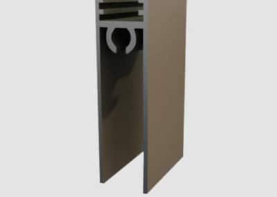 Aluminum lower connection profile
