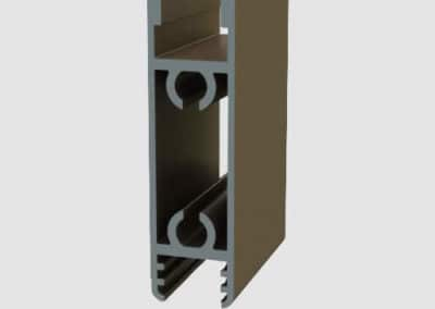 Aluminum lower & upper track for suspended system