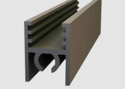 Aluminum upper connection profile