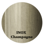 aluminum profile color inox champagne