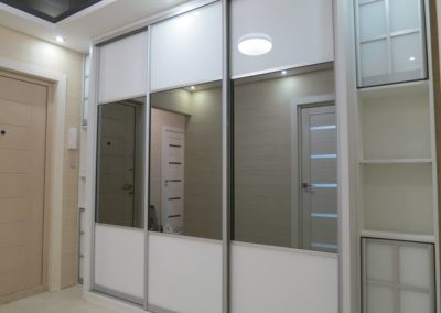 Mirror and acrylic sliding doors