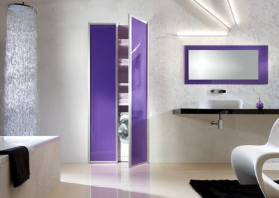 Swinging doors for bathroom