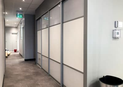 custom office sliding doors