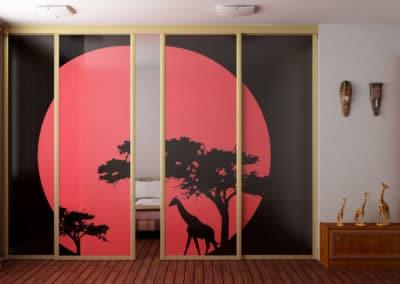 diviseur de chambres portes suspendues