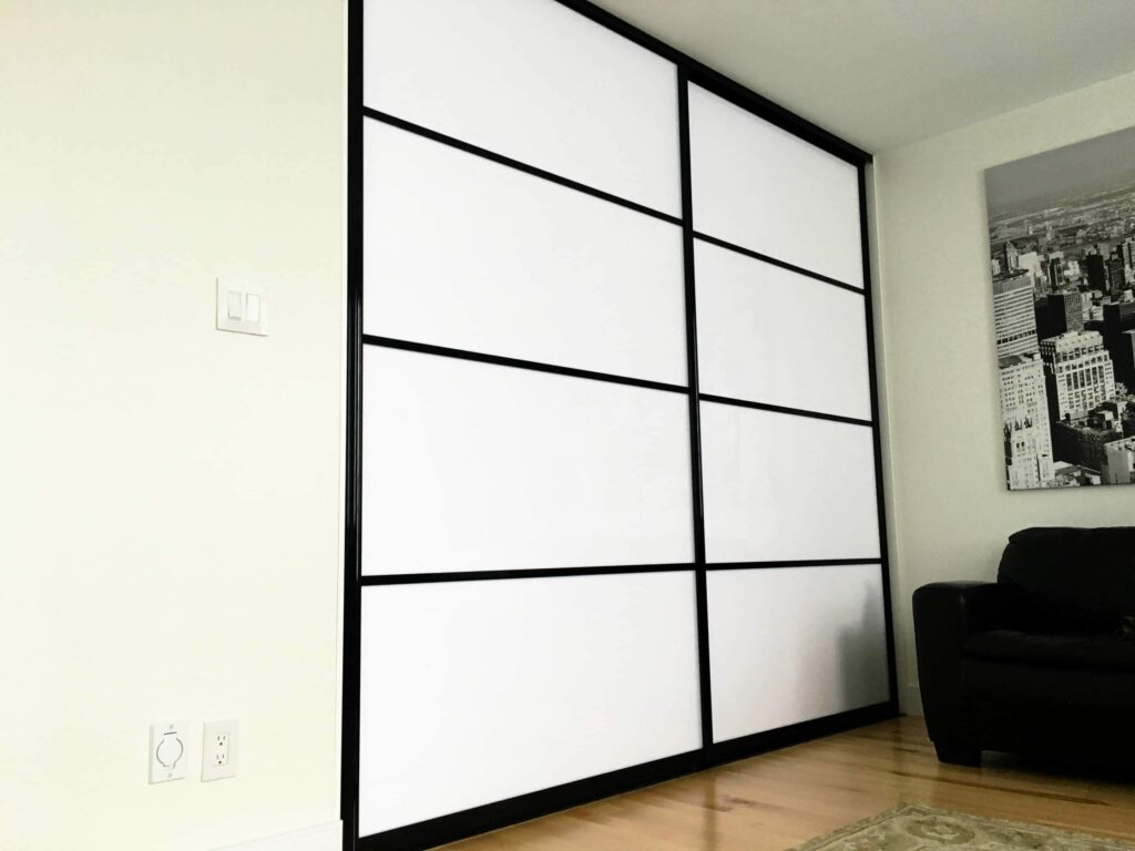 Modern White Closet Doors. Modern White Sliding Doors Black Framing Closet O