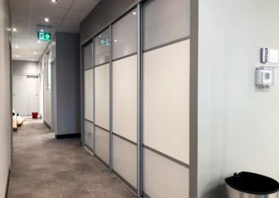 portes coulissantes sur mesure pour bureau