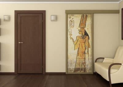 portes suspendues avec image