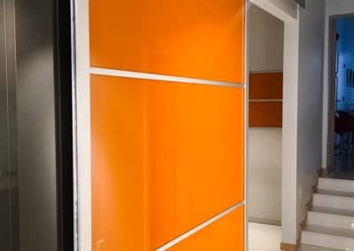portes suspendues modernes en acrylique