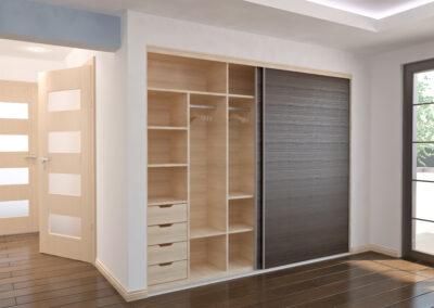 wooden closet sliding doors with closet