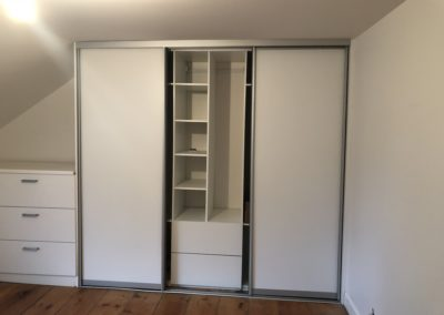 simple white closet sliding doors