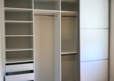 triple track sliding doors with closet