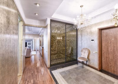 entrance closet doors with image