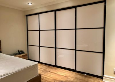white acrylic sliding doors